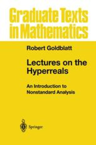 Lectures on the Hyperreals