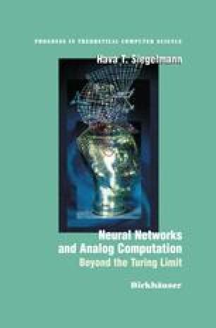 Neural Networks and Analog Computation