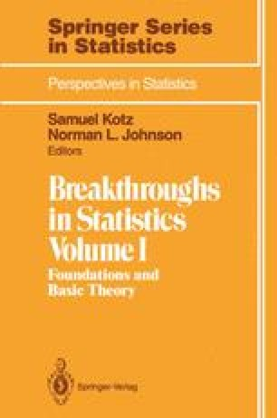 Breakthroughs in Statistics
