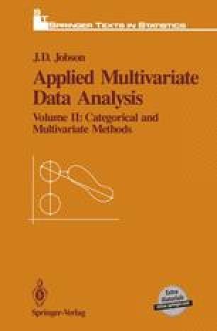 Manova Discriminant Analysis And Qualitative Response Models Springerlink