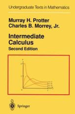 Intermediate Calculus