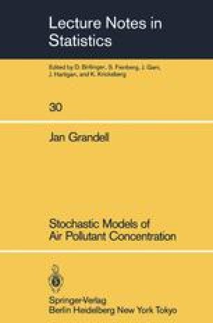 Stochastic Models of Air Pollutant Concentration
