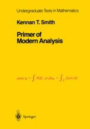 Primer of Modern Analysis