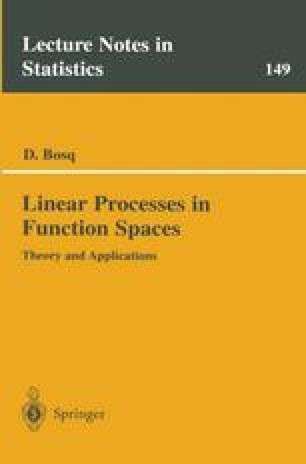 Linear Processes in Function Spaces