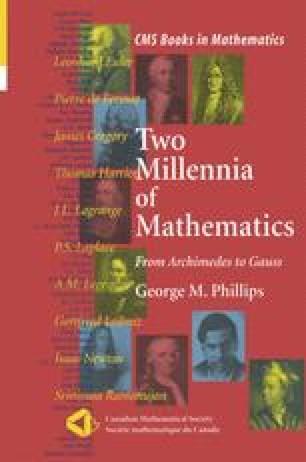 Two Millennia of Mathematics