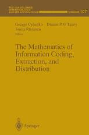 The Mathematics of Information Coding, Extraction and Distribution