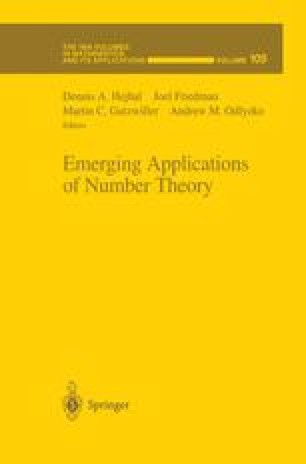 Emerging Applications of Number Theory
