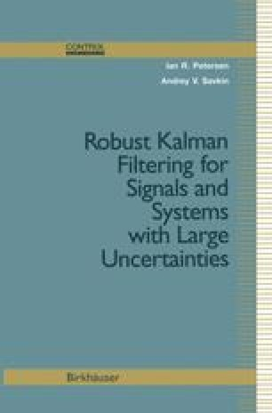 Robust Kalman Filtering for Signals and Systems with Large Uncertainties