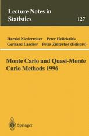 Monte Carlo and Quasi-Monte Carlo Methods 1996