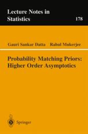 Probability Matching Priors: Higher Order Asymptotics