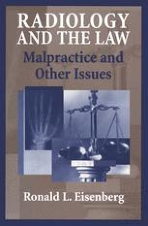 Radiology and the Law