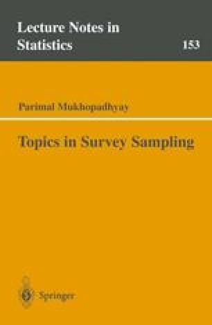 Topics in Survey Sampling