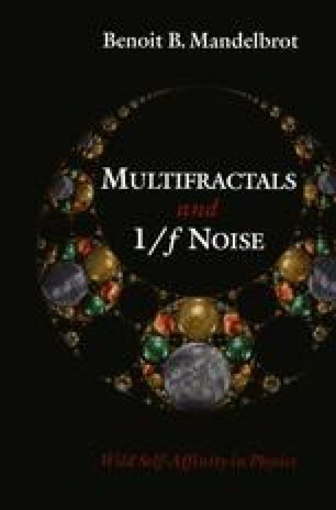 Multifractals and 1/ƒ Noise