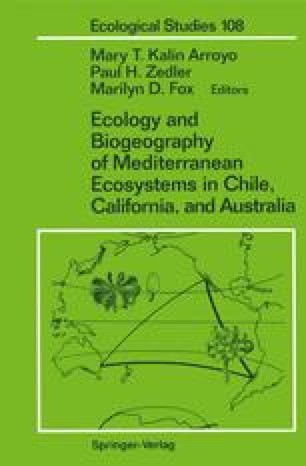 Ecology and Biogeography of Mediterranean Ecosystems in Chile, California, and Australia