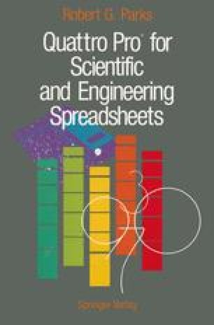 Quattro Pro® for Scientific and Engineering Spreadsheets