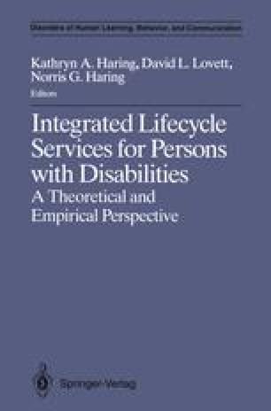 Integrated Lifecycle Services for Persons with Disabilities