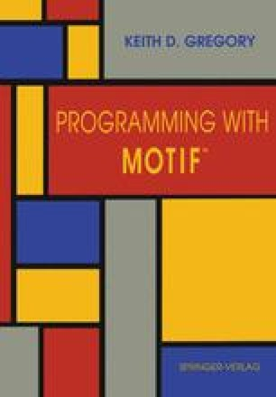 Programming with Motif™