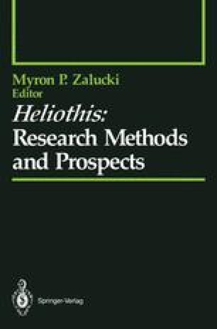 Heliothis: Research Methods and Prospects