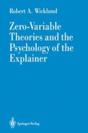 Zero-Variable Theories and the Psychology of the Explainer