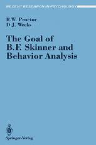 The Goal of B.F. Skinner and Behavior Analysis