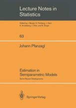 Estimation in Semiparametric Models