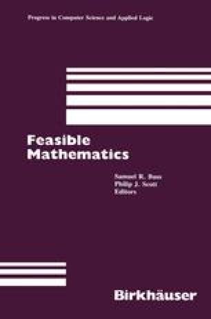 Feasible Mathematics