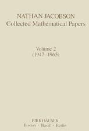 Nathan Jacobson Collected Mathematical Papers