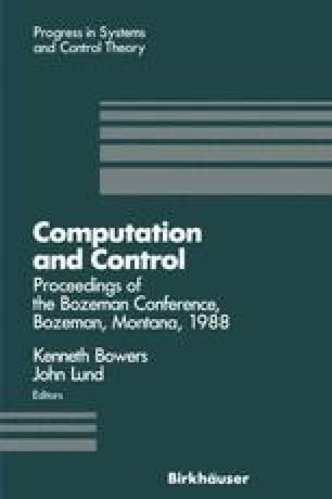 Computation and Control