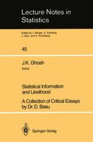 Statistical Information and Likelihood
