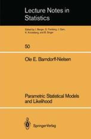 Parametric Statistical Models and Likelihood