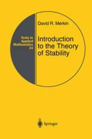 Introduction to the Theory of Stability