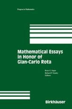 Mathematical Essays in honor of Gian-Carlo Rota