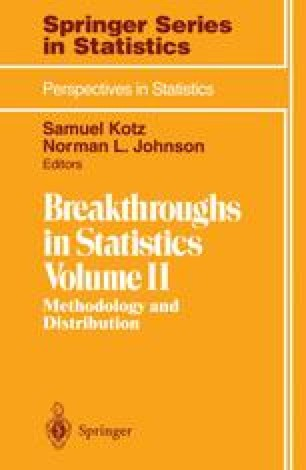 Breakthroughs in Statistics