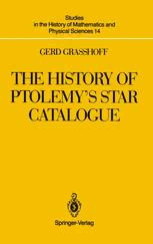 The History of Ptolemy's Star Catalogue