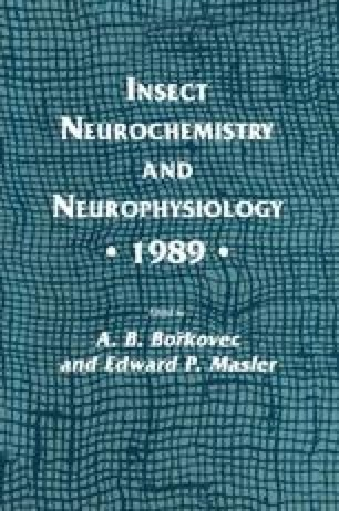 Insect Neurochemistry and Neurophysiology · 1989 ·