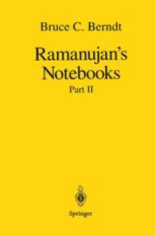 Ramanujan's Notebooks
