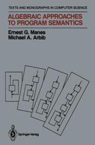 Algebraic Approaches to Program Semantics