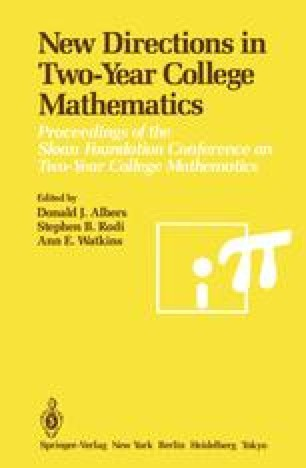 New Directions in Two-Year College Mathematics