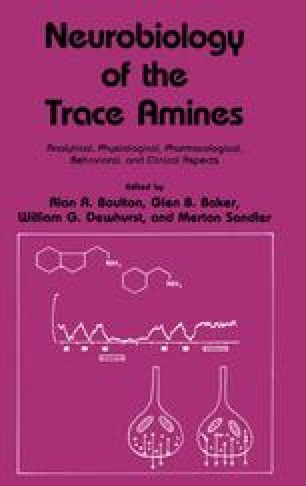 Neurobiology of the Trace Amines