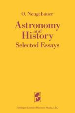 Astronomy and History Selected Essays