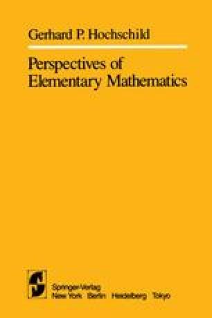 Perspectives of Elementary Mathematics