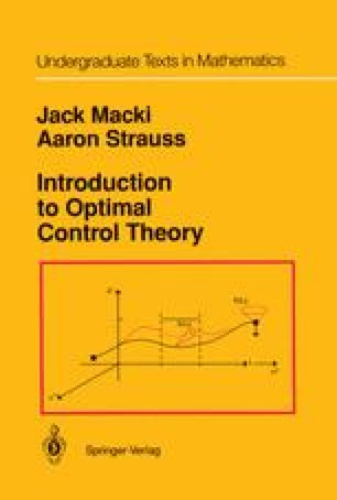 Introduction to Optimal Control Theory
