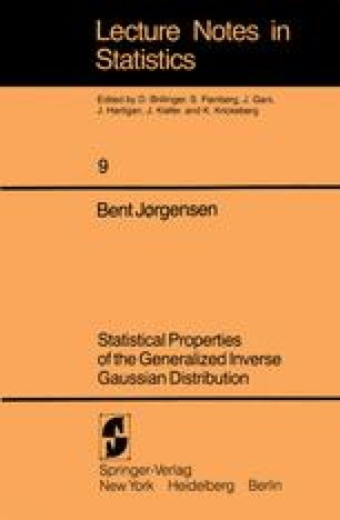 Statistical Properties of the Generalized Inverse Gaussian Distribution