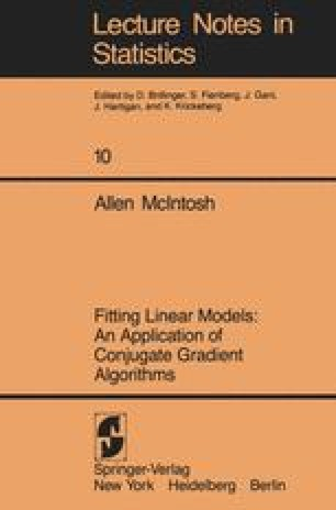 Fitting Linear Models