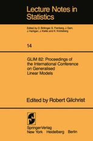 GLIM 82: Proceedings of the International Conference on Generalised Linear Models