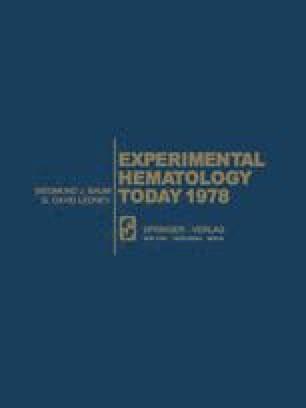 Experimental Hematology Today 1978