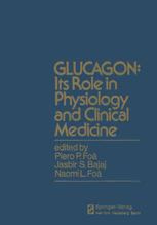 GLUCAGON: Its Role in Physiology and Clinical Medicine