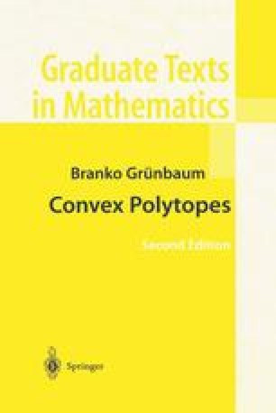 Convex Polytopes