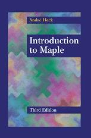 Introduction to Maple