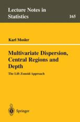 Multivariate Dispersion, Central Regions, and Depth